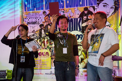 Syeri Baet, Jonas Diego, and Gerry Alanguilan
