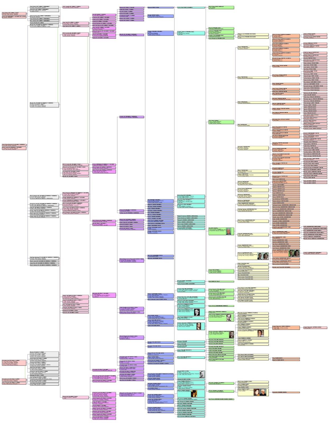 Arb  L Genealogico Elaborado Por Francisco Herrera Ter  N  Mi Primo