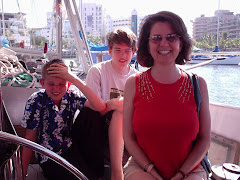 Anette and boys on their way back to hotel