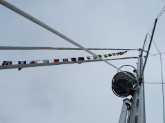 crows nest with signal flags