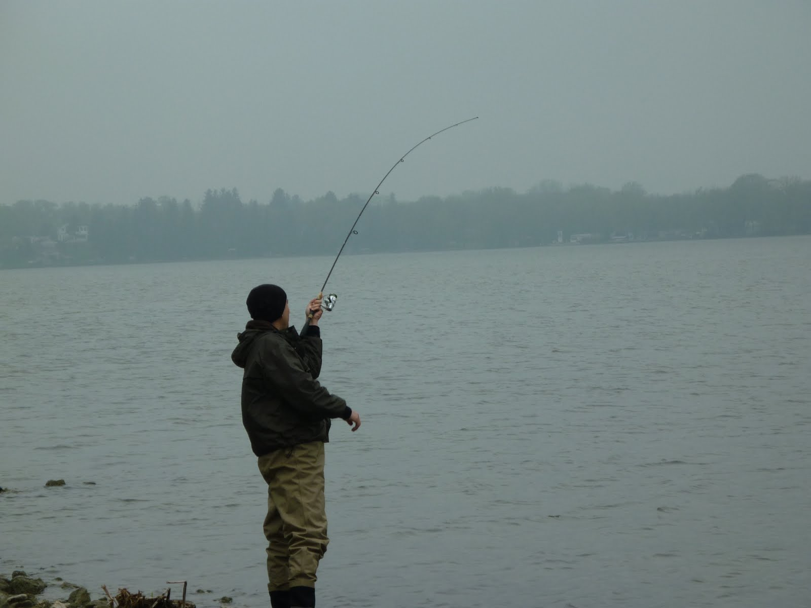 Illinois wisconsin fishing carp fishing fox chain of for Fishing in the wind