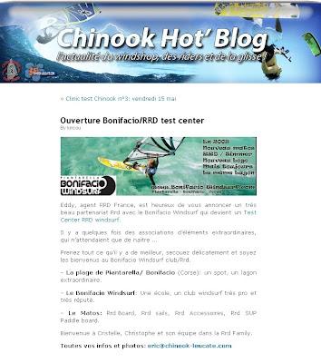 le blog de chinook et le bonifacio windsurf