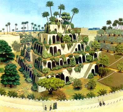Las 7 maravillas del mundo antiguo los jardines colgantes for Jardines colgantes de babilonia