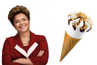 Dilma parece com um sorvete cornetto