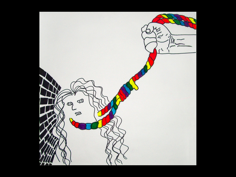 Social justice issue illustration- gay teen suicide