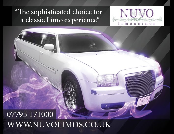 White Chrysler 300c Limo. NUVO Limousines will take you