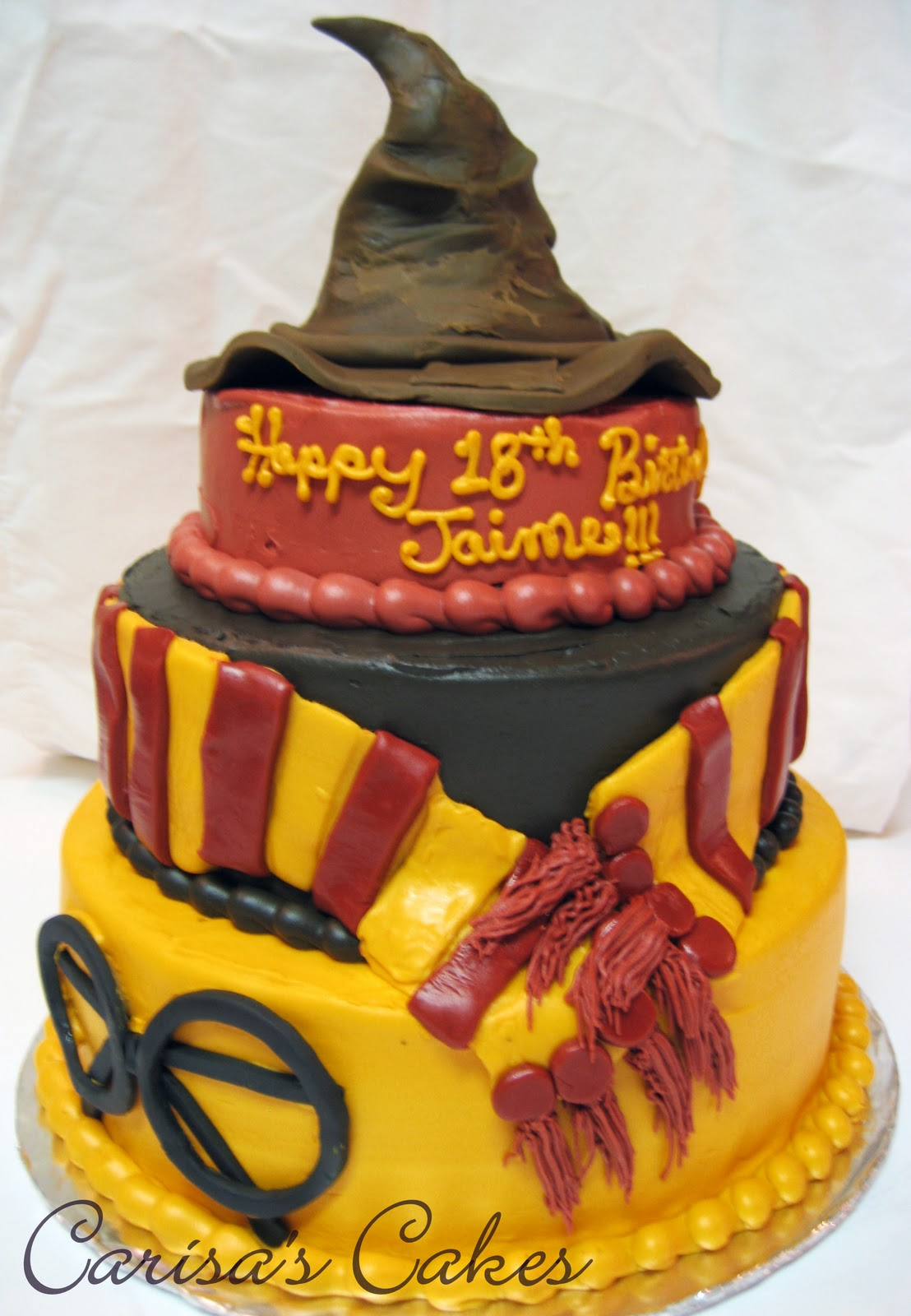 Birthday Cake Ideas Harry Potter : Carisa s Cakes: 3 Tiered Harry Potter Birthday Cake