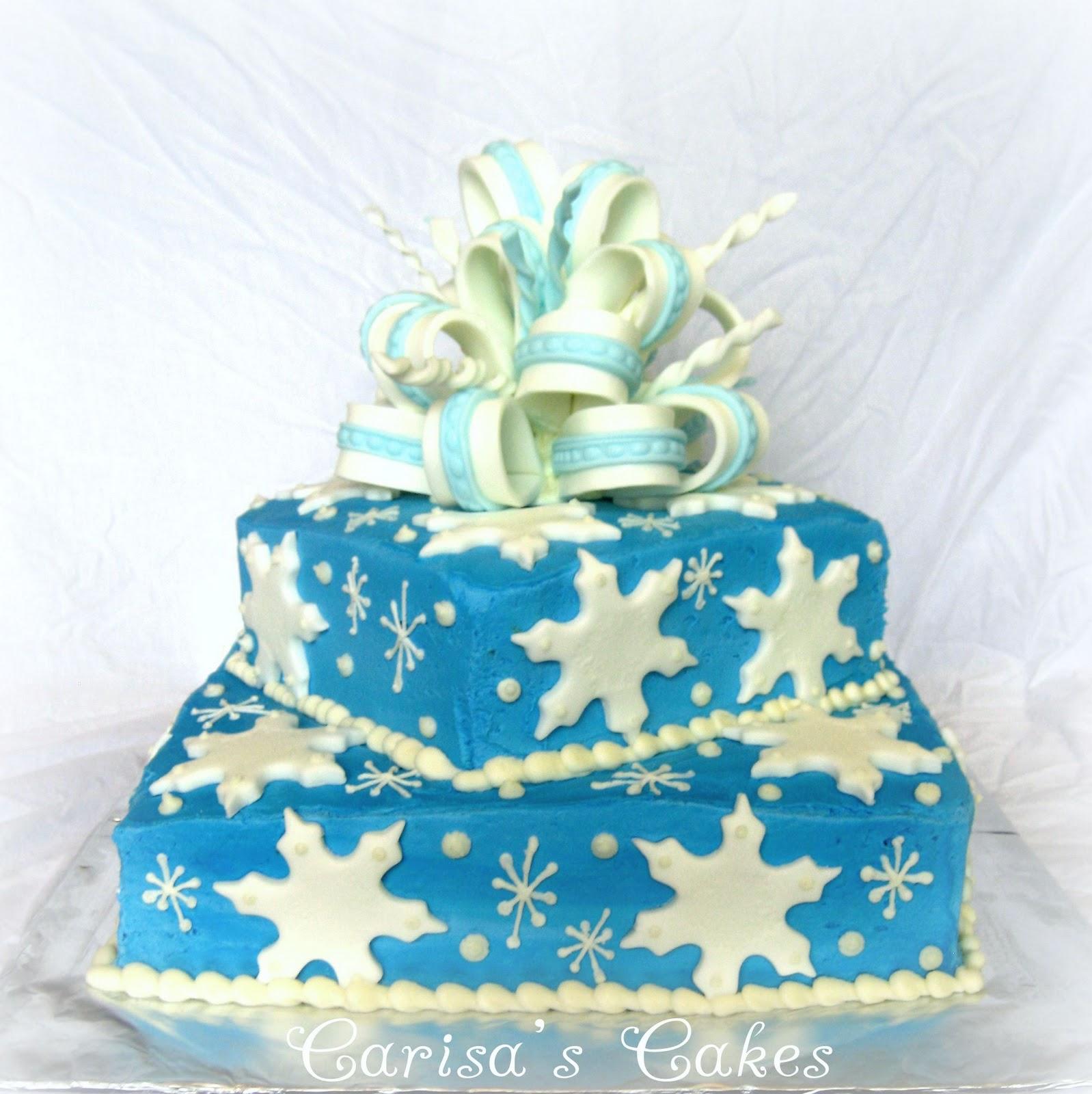 Carisa s Cakes A Winter Birthday Cake