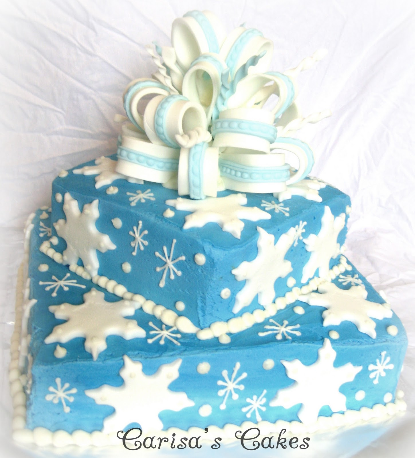 Carisas Cakes A Winter Birthday Cake