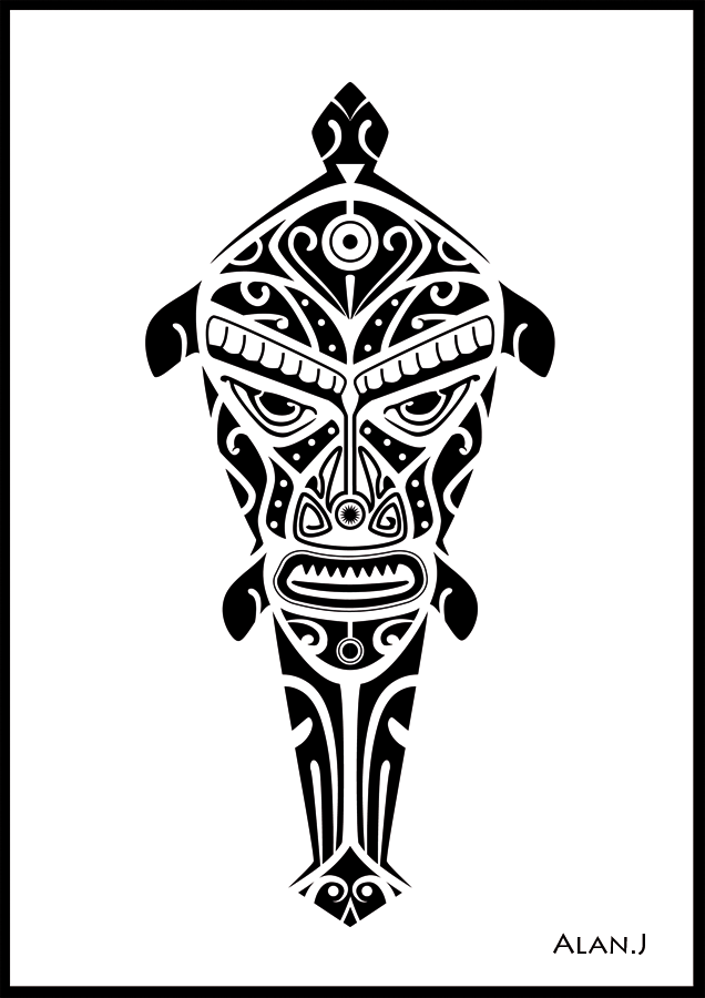 Dessin de tattoo en ligne EPIDERM'INK TATTOOS  - tatouage polynesien dessin