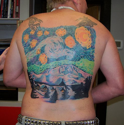 Mount Hood Tattoo. It's Van Gough, just without the ear-severing lunacy