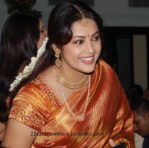 Actress Meena Traditional Jewellery Jewellery Designs
