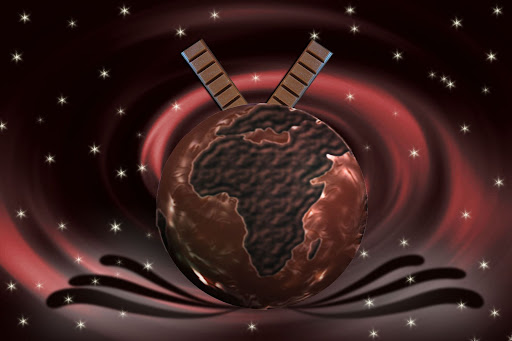 Globus aus Schokolade