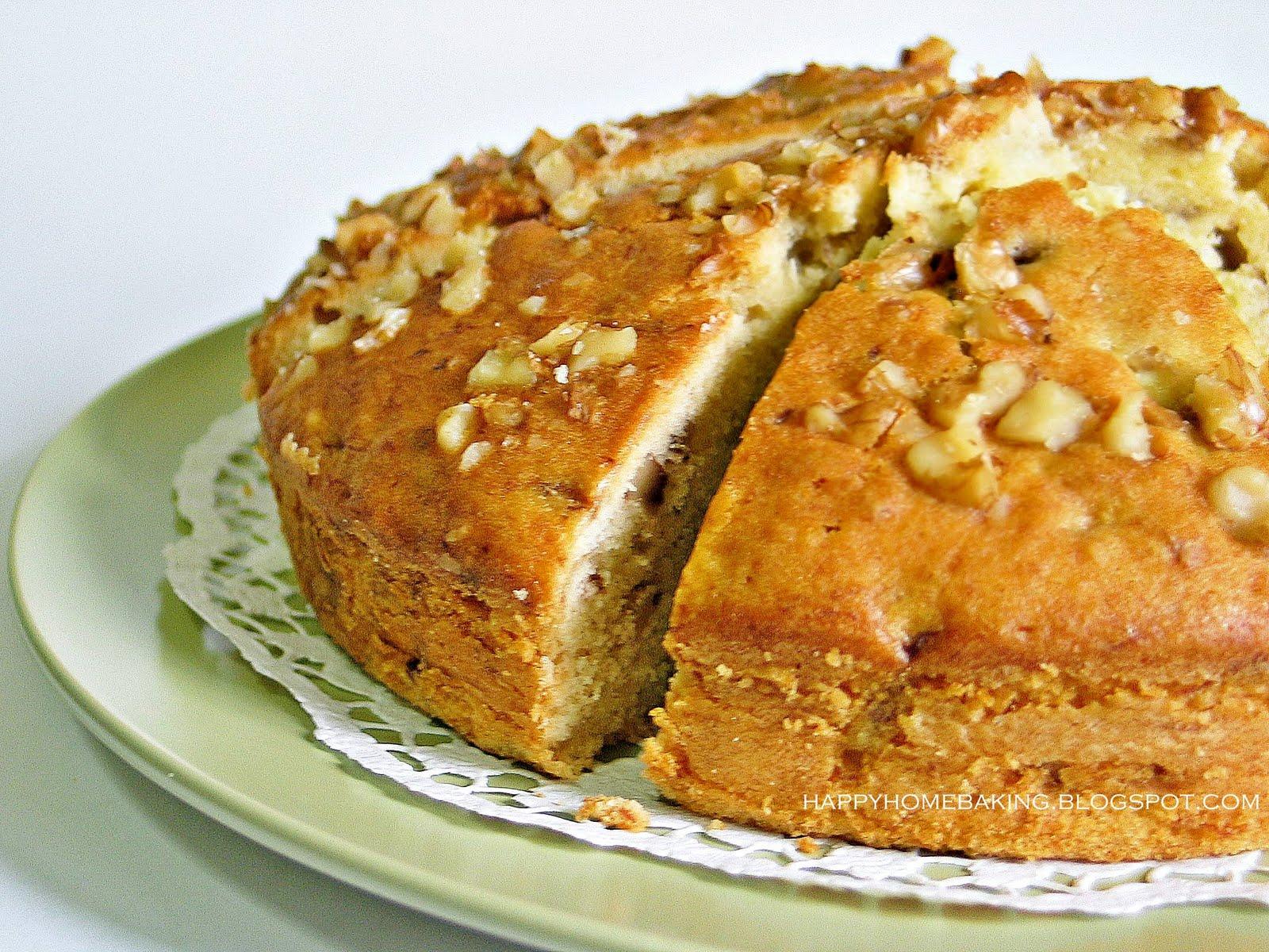Banana cake recipe walnuts