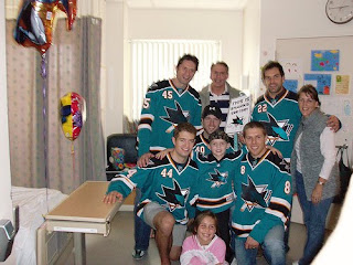 The Sharks visit VMC's young patients...check out these photos