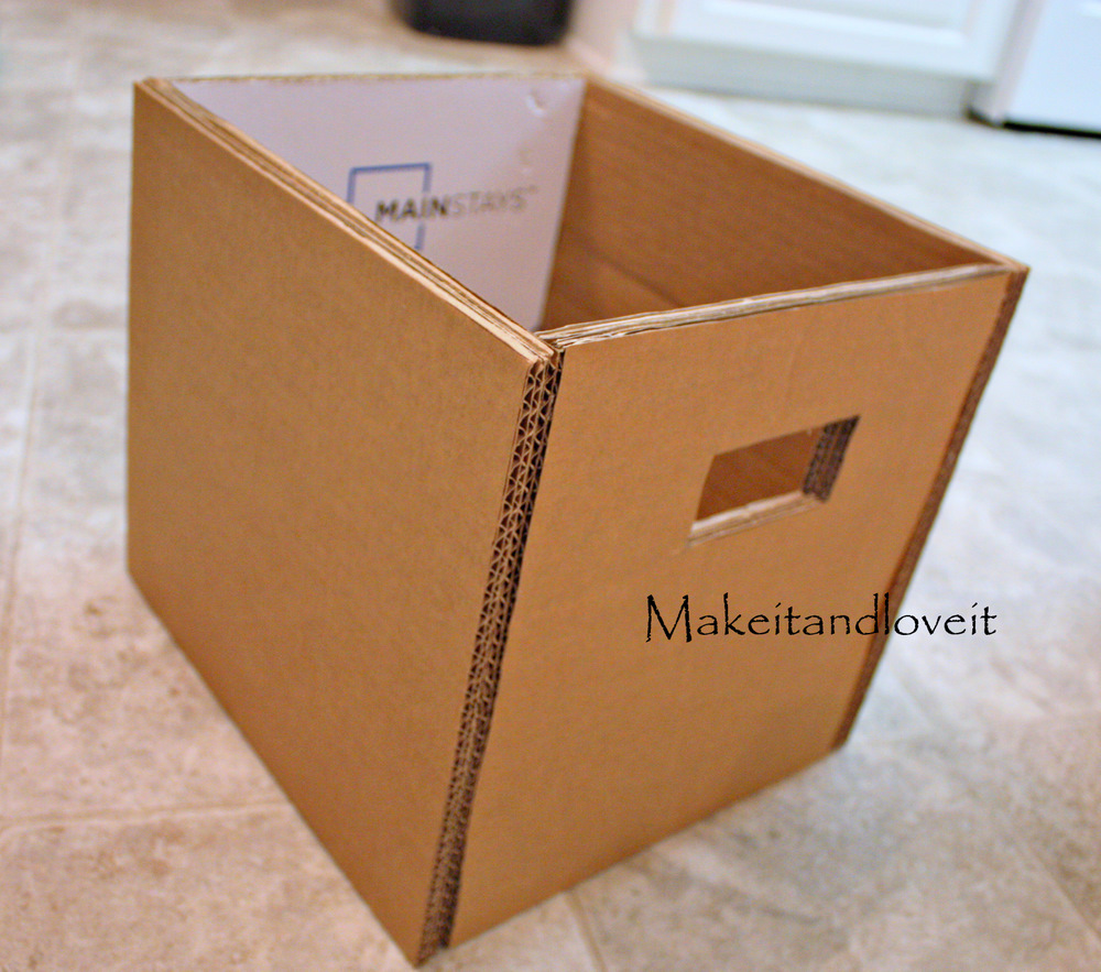 Craft Room Part 1 Covered Cardboard Storage Boxes Make It And Love