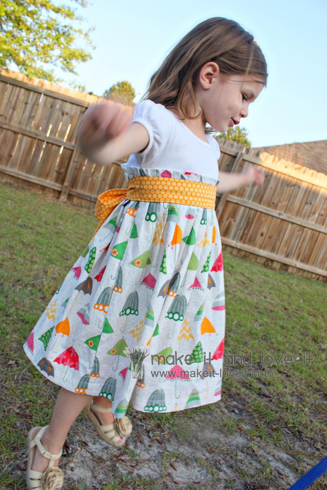Как сшить детское платье своими руками без выкройки видео