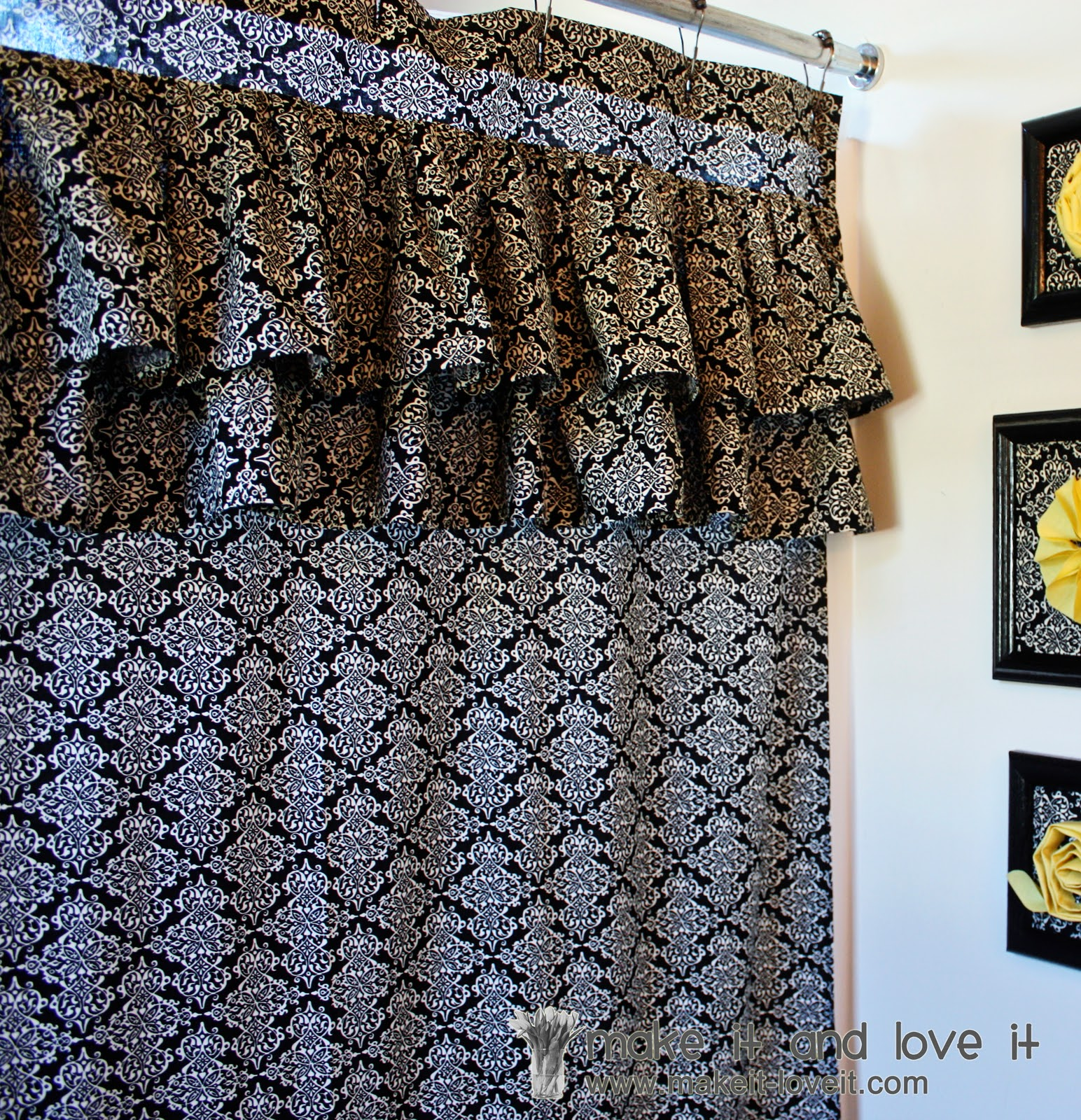 Diy ruffled shower curtain - Decorate My Home Part 17 Ruffled Shower Curtain
