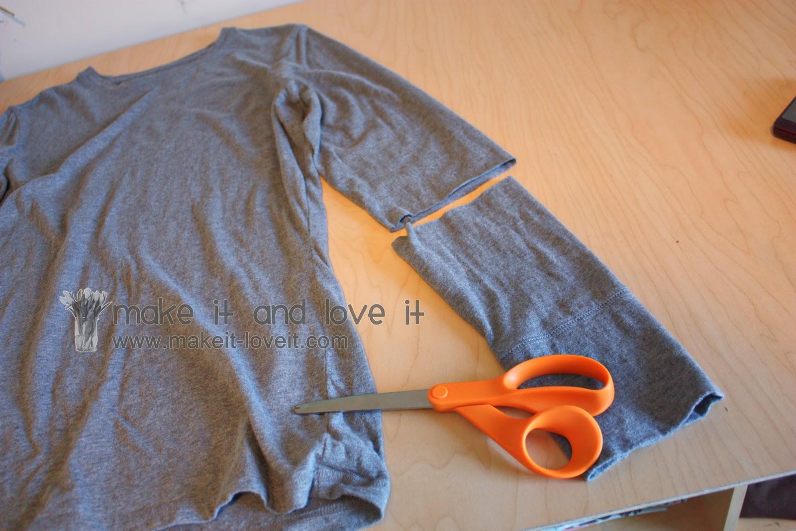 Re-purposing: Women's Long Sleeved Shirt into Short Sleeves ...
