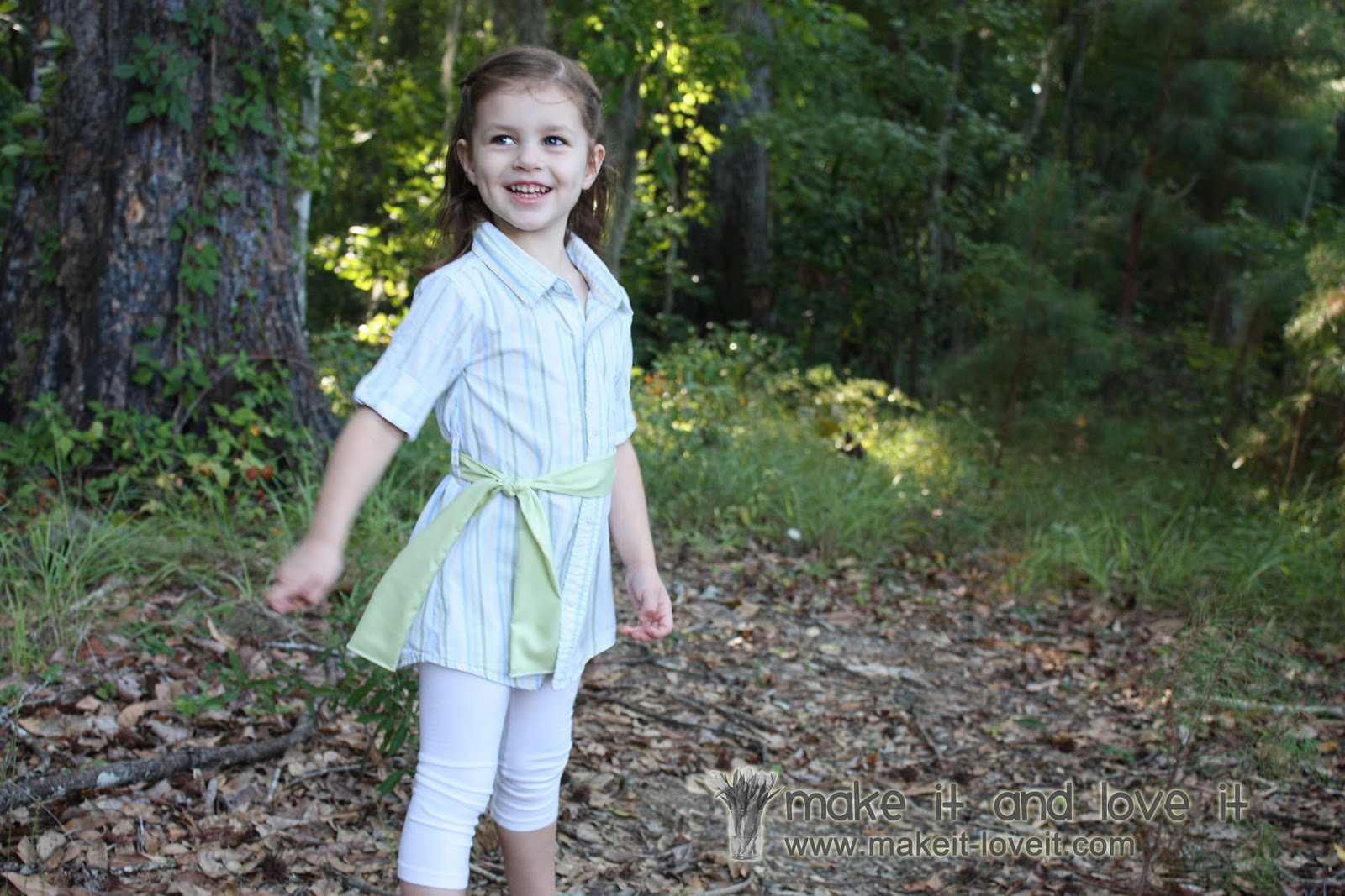 Re-purposing: Boy's Button-Up into Girl's Top with Tie | Make It and ...