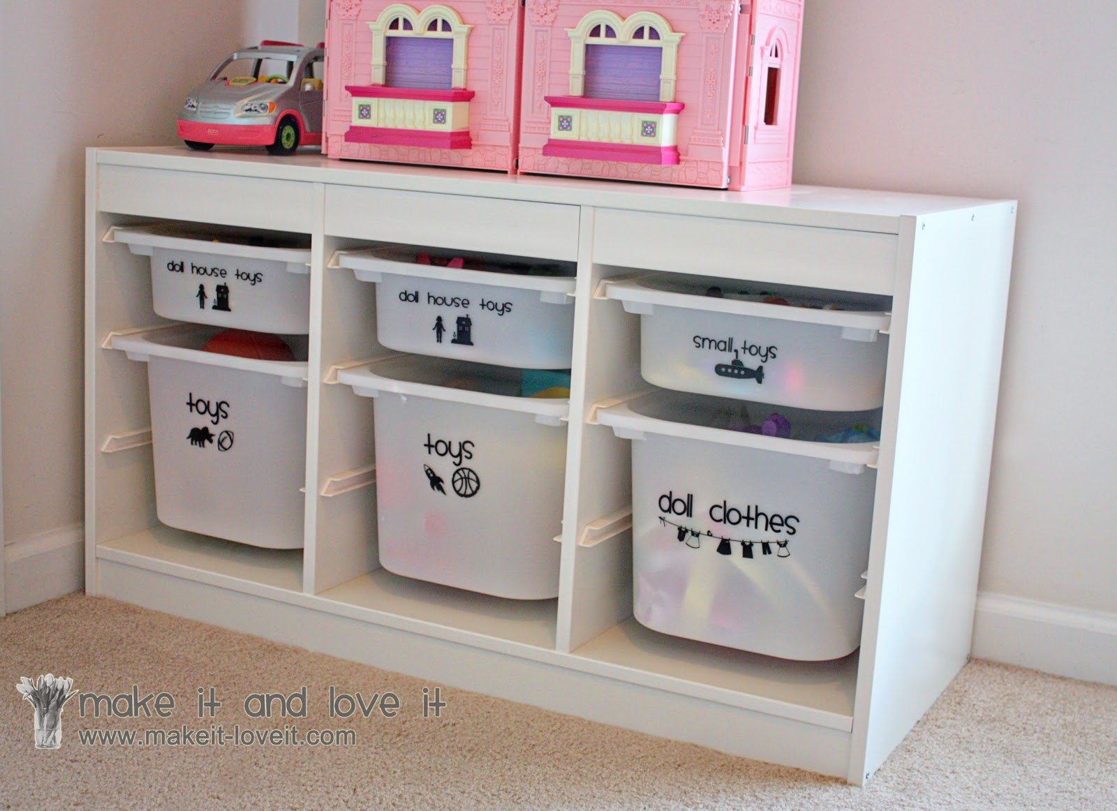 decorate my home part 22 toy bin labeling make it and. Black Bedroom Furniture Sets. Home Design Ideas