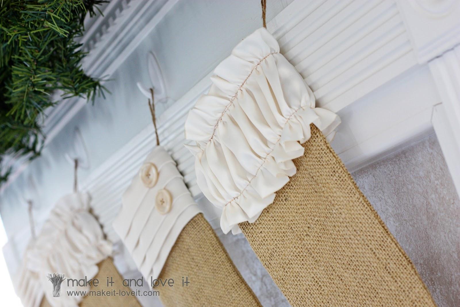 Burlap Stockings Part - 43: Burlap Christmas Stockings