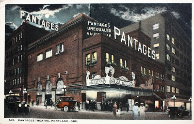 Portland Oregon Theatres on Pantages Theatre  On Broadway And Alder  Circa 1918  Not The Old