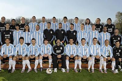 foto de Selección Argentina 2010antes de viajar a sudáfrica