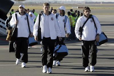 llegada seleccion argentina a sudafrica 2010 b