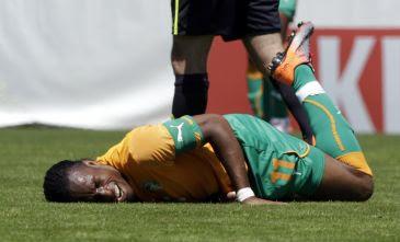 drogba se quebro y no irá al mundial sudafrica 2010
