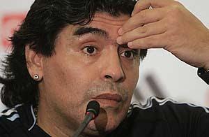maradona: argentina no es favorito