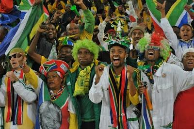 sudafrica 2010: fotos de fanáticos, fotos coloridas de hinchas y de simpatizantes