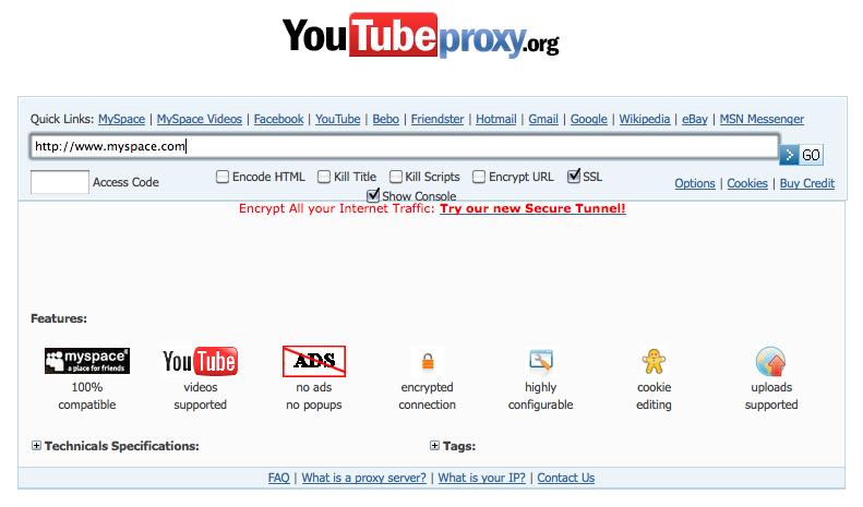 Entrar por proxy a youtube