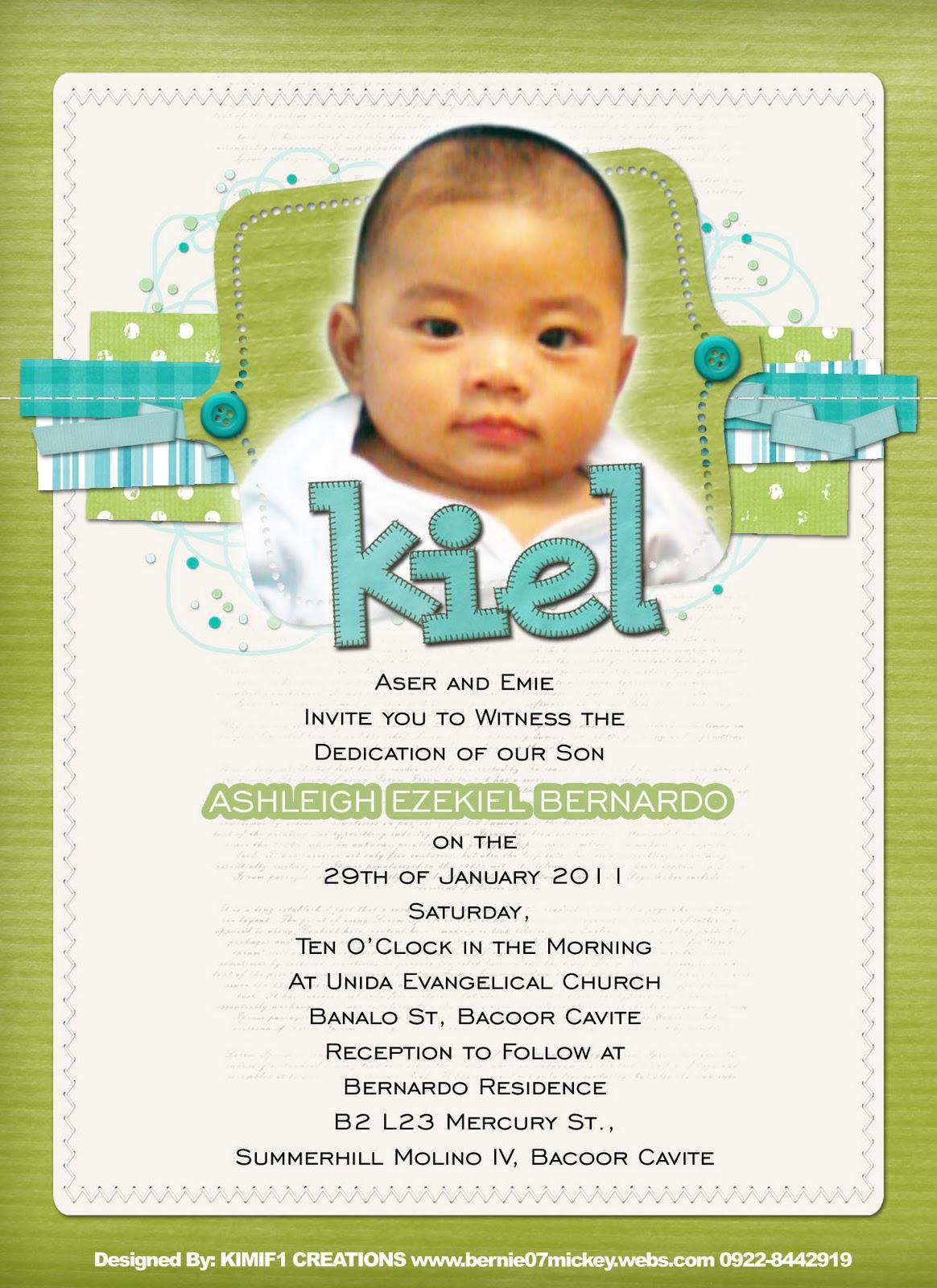 baby dedication invitations Josemulinohouseco