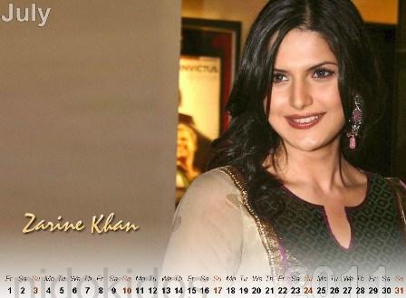 zarine khan pics 2011. Zarine Khan Calendar 2011: New
