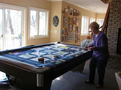 quilt/pool table