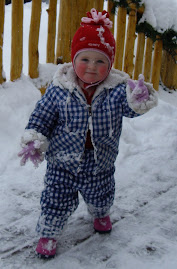 Lillie playing in the Snow