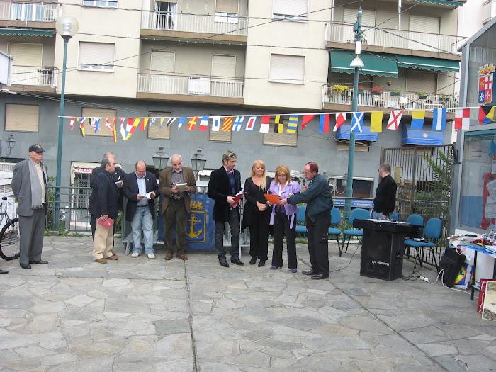 Gennaro Poeta Genovese classificato terzo all'Oscar Internaz. Premiato a Sanremo!