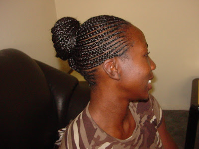 feed in cornrows ponytail
