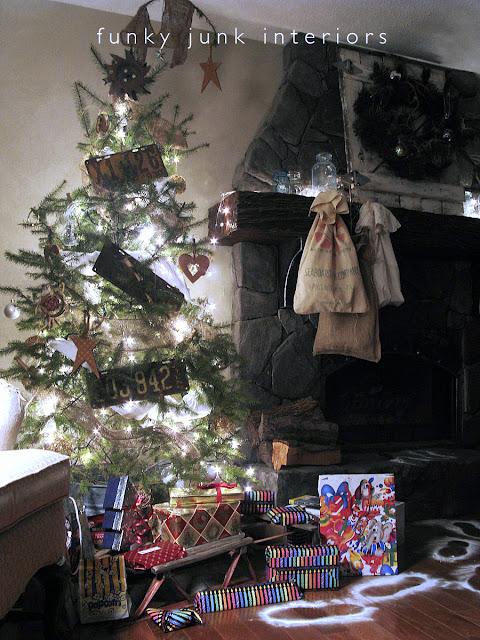 Make Santa baking powder footprints on FunkyJunkInteriors.net