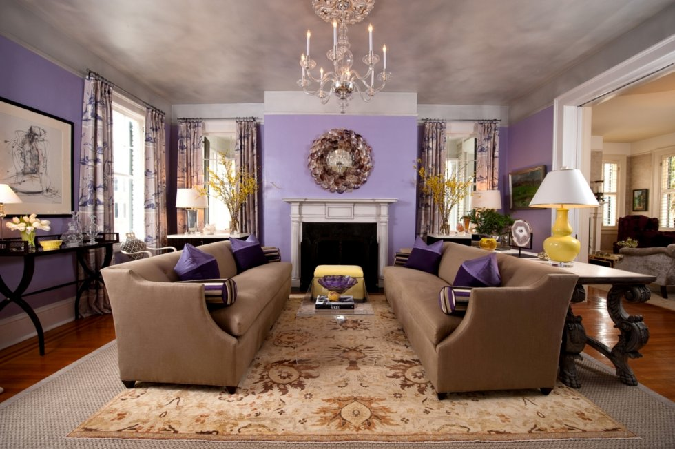 Simple everyday glamour loving lavender for Lilac living room walls