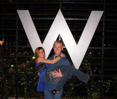 Stuart and Leigh in front of The W in Atlanta