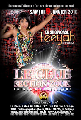 Teeyah en showcase - La Pointe des Antilles - Section Zouk