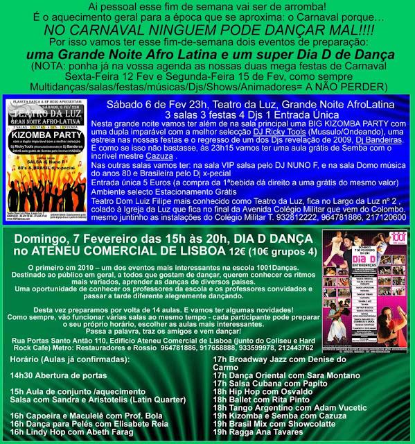 NOITE AFRO LATINA, Carnaval, Teatro da Luz, Kizomba Party