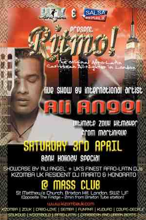 ALi Angel show Mass Club London