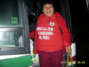 CIRCULOS BOLIVARIANOS DEL PERU LLEVANDO AYUDA A AFECTADOS POR EL TERREMOTO DEL 15 DE AGOSTO