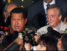 HUGO CHAVEZ Y KIRCHNER