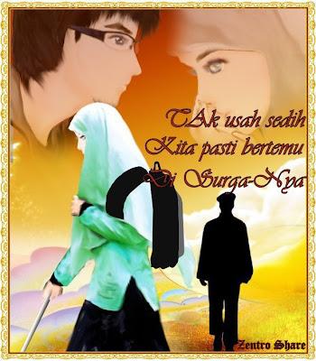 GAMBAR KARTUN ISLAMI Cinta sejatiDengan Kata Mutiara