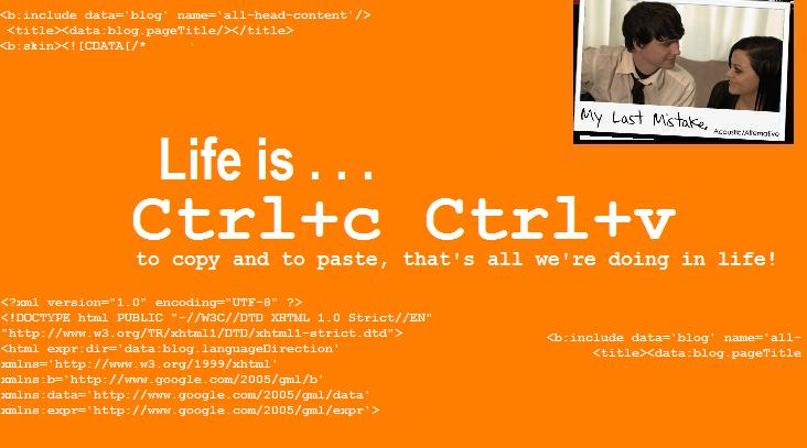 Copy-Paste of Life