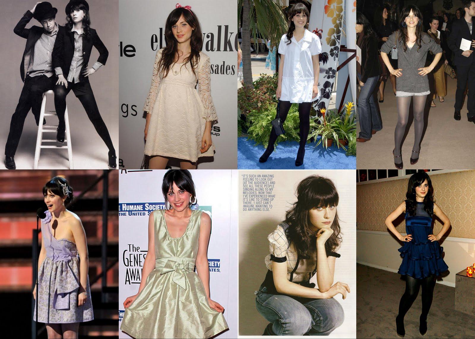 Zooey Deschanel Fashion Reel Artsy: Fashion In...